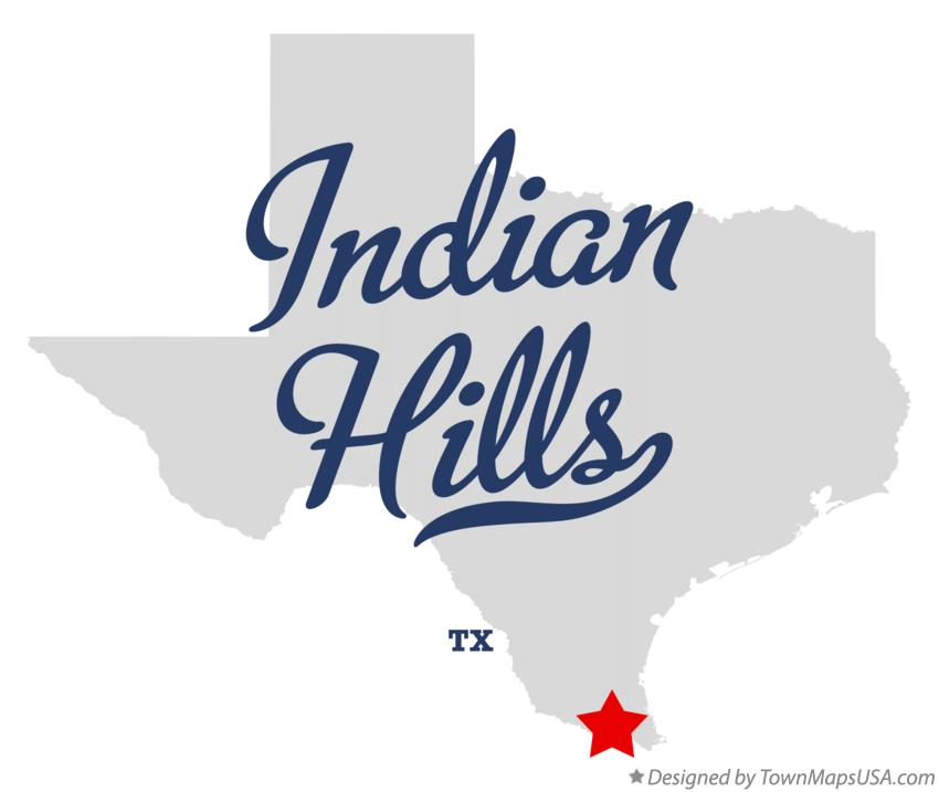 Map of Indian Hills Texas TX