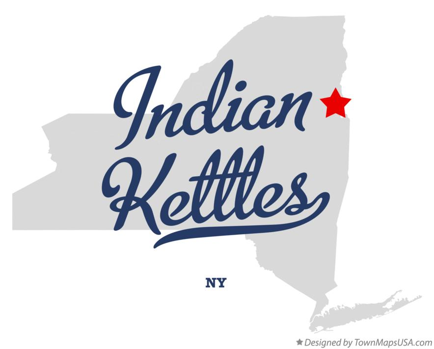 Map of Indian Kettles New York NY