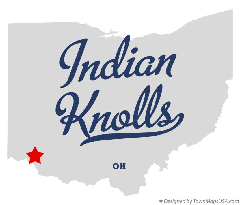 Map of Indian Knolls Ohio OH