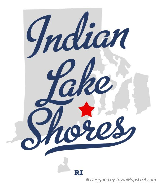 Map of Indian Lake Shores Rhode Island RI