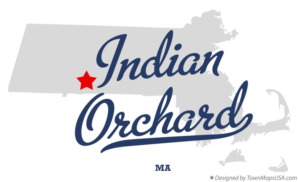 Map of Indian Orchard Massachusetts MA