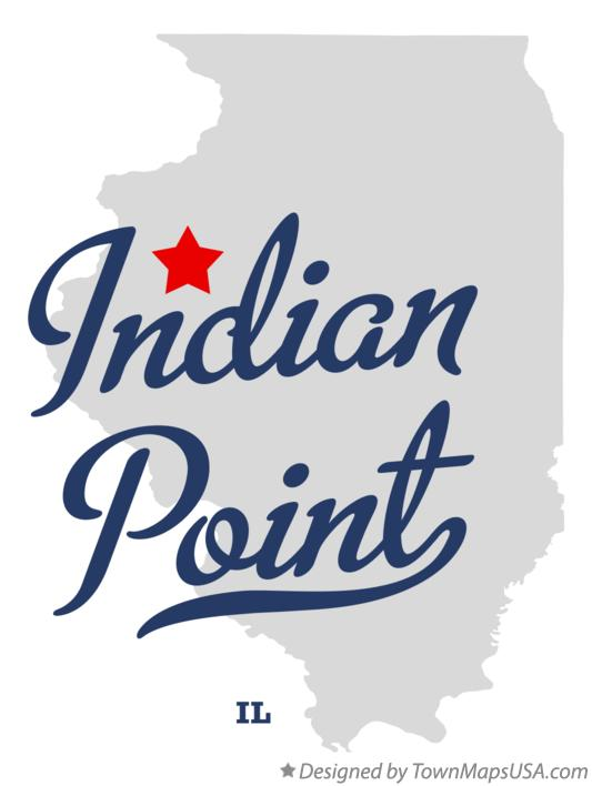 Map of Indian Point Illinois IL