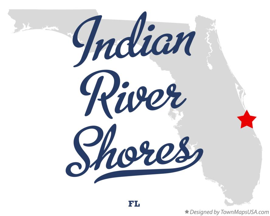 Map of Indian River Shores Florida FL