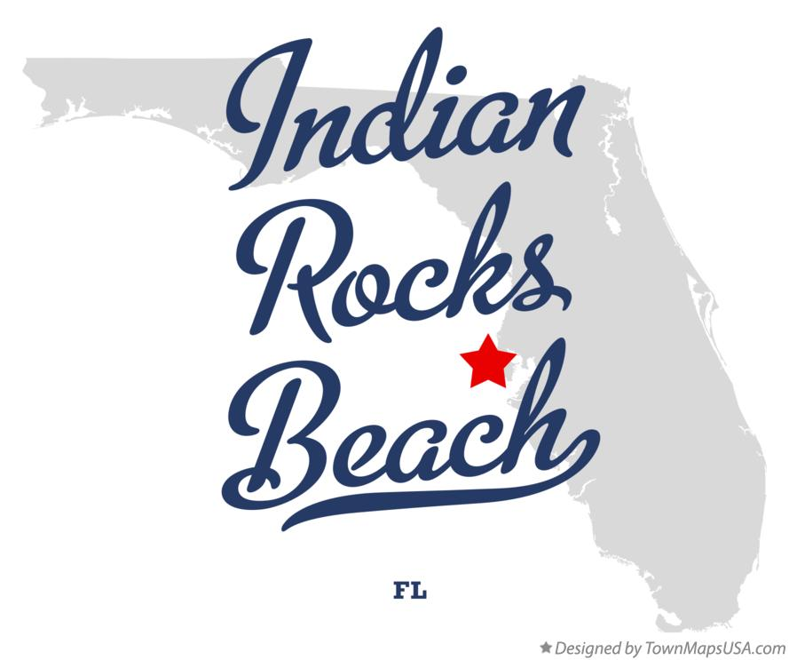 Map of Indian Rocks Beach Florida FL