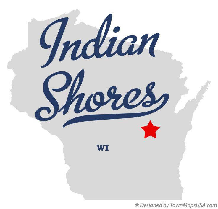 Map of Indian Shores Wisconsin WI