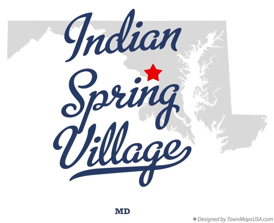 Map of Indian Spring Village Maryland MD