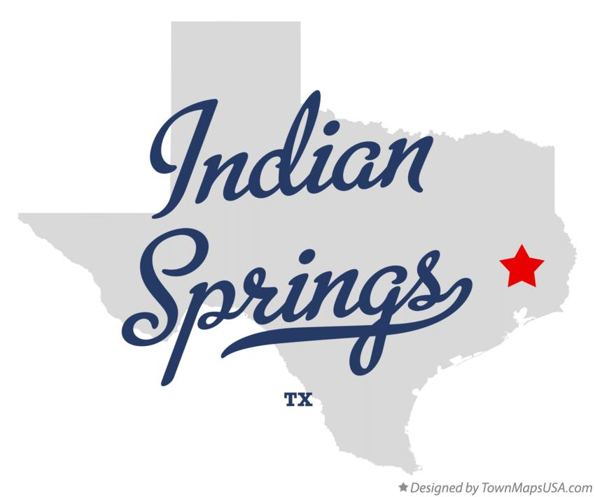 Map of Indian Springs Texas TX
