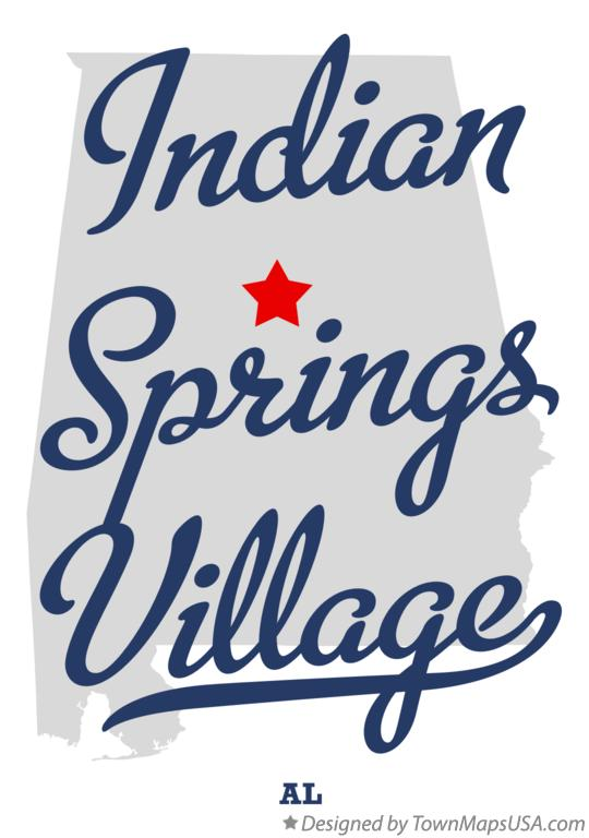 Map of Indian Springs Village Alabama AL