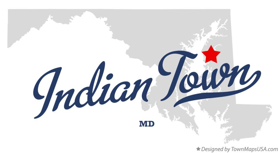 Map of Indian Town Maryland MD