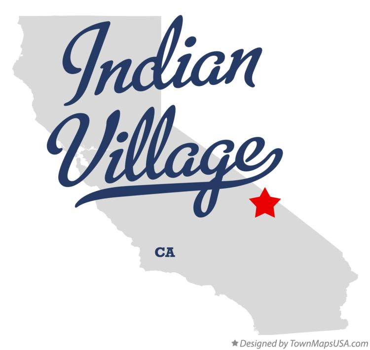 Map of Indian Village California CA