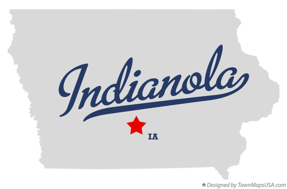 Map of Indianola Iowa IA