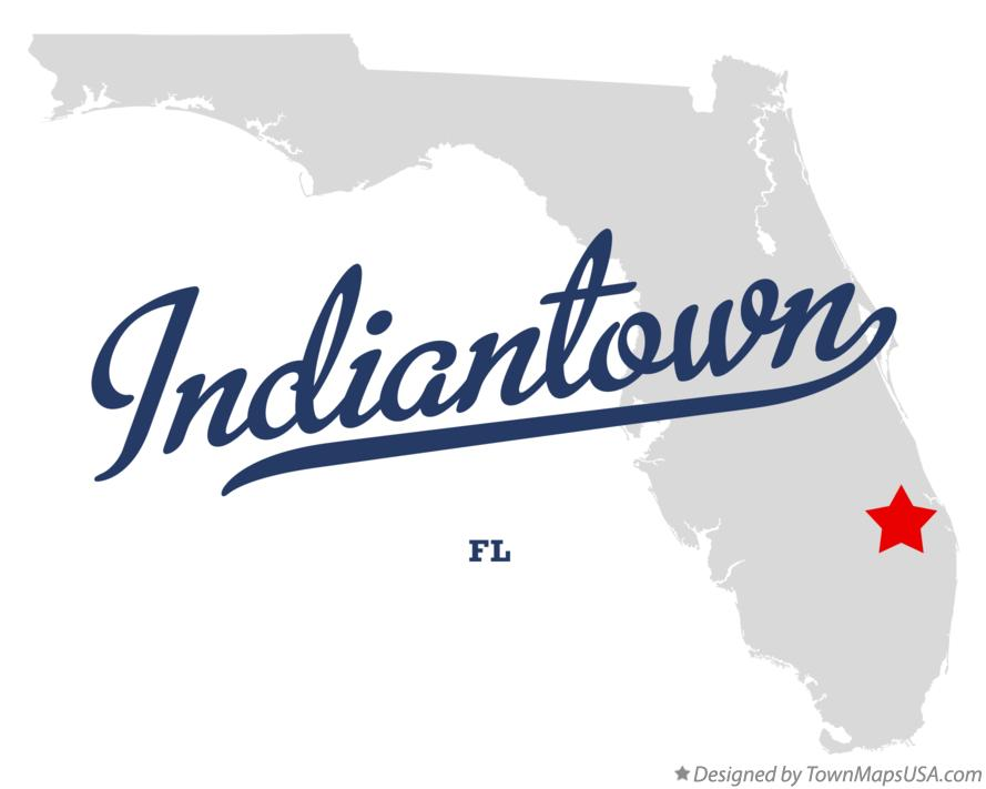 Map of Indiantown Florida FL