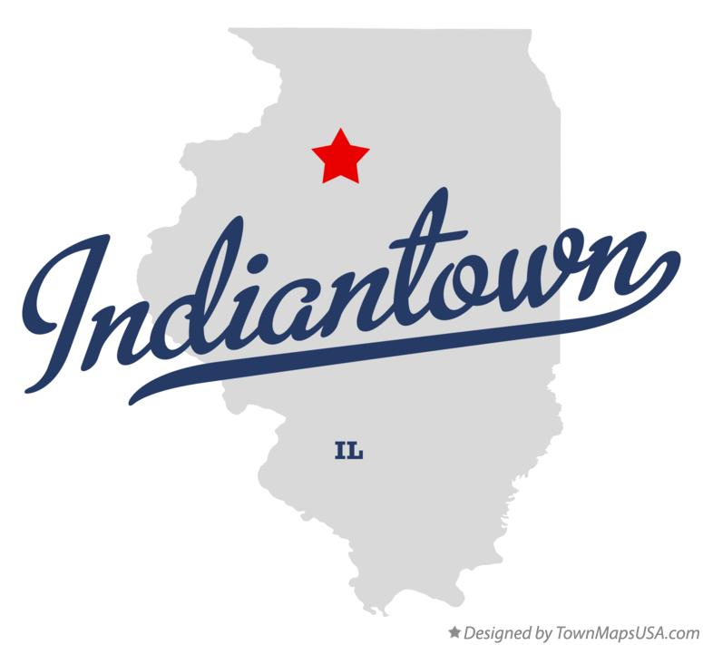 Map of Indiantown Illinois IL