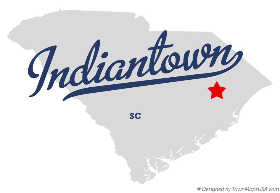 Map of Indiantown South Carolina SC