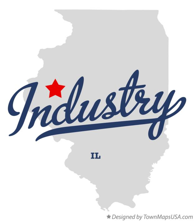 Map of Industry Illinois IL