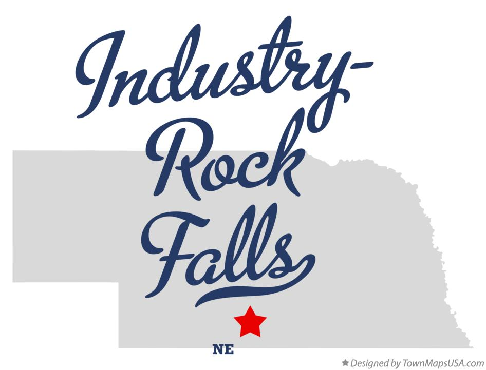 Map of Industry-Rock Falls Nebraska NE