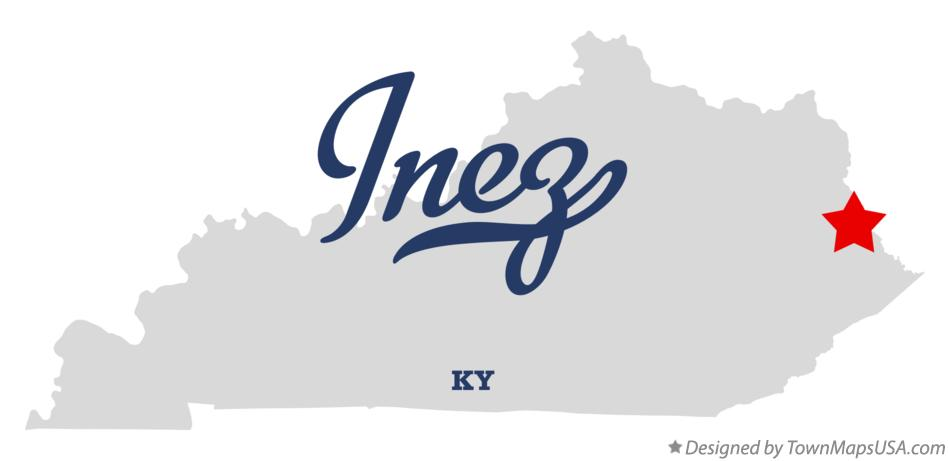 Map of Inez Kentucky KY