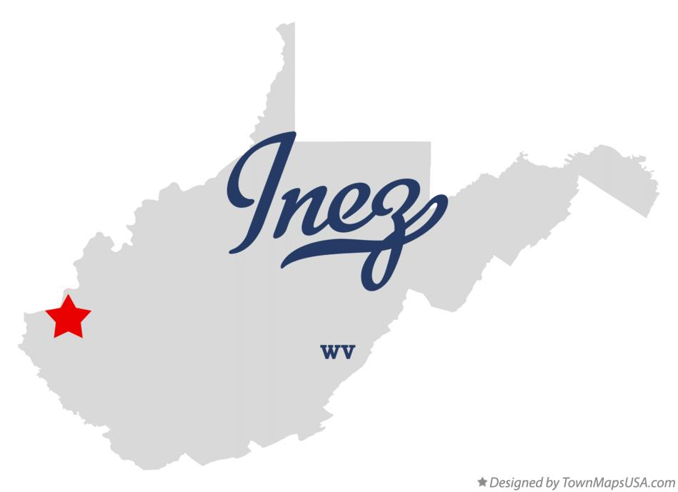 Map of Inez West Virginia WV