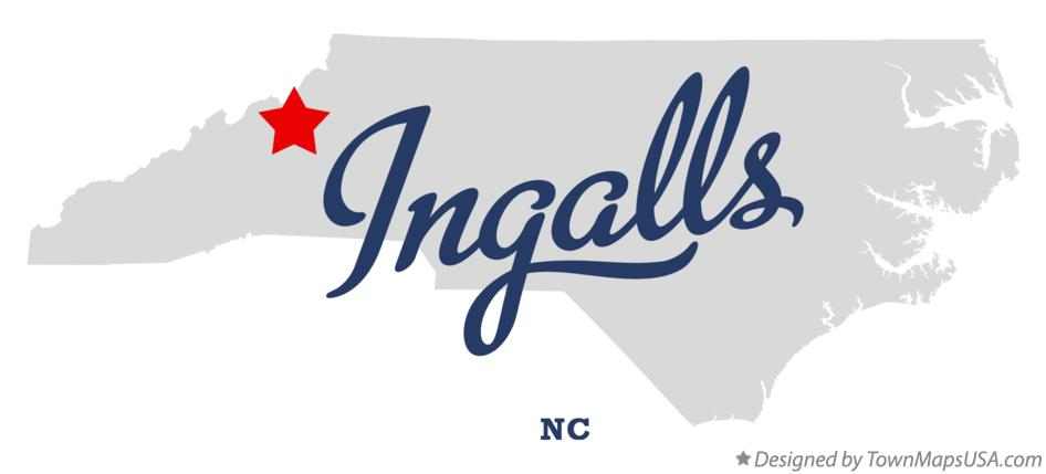 Map of Ingalls North Carolina NC