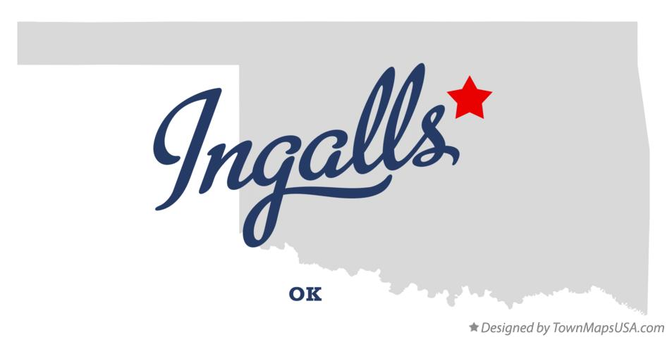 Map of Ingalls Oklahoma OK