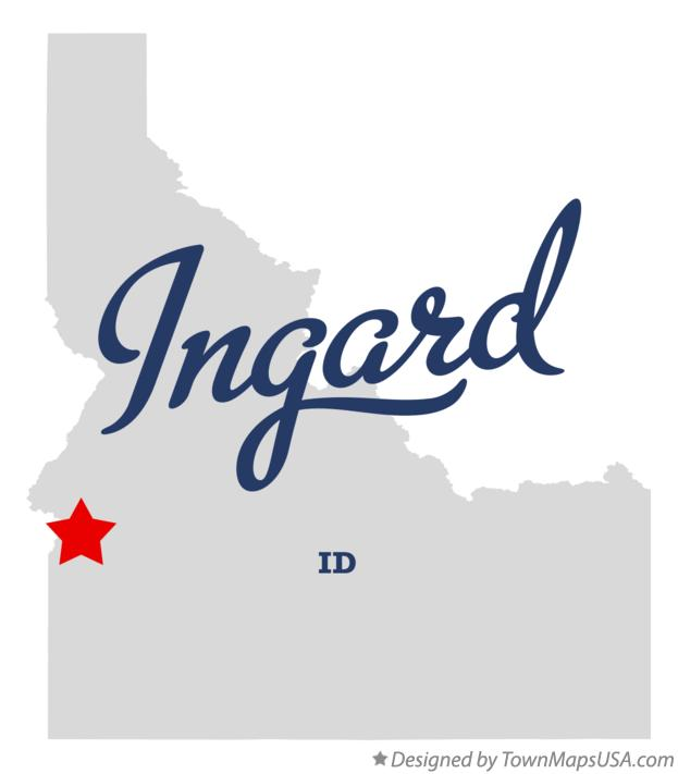 Map of Ingard Idaho ID