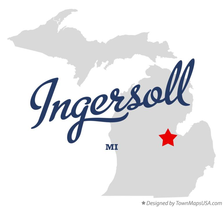Map of Ingersoll Michigan MI