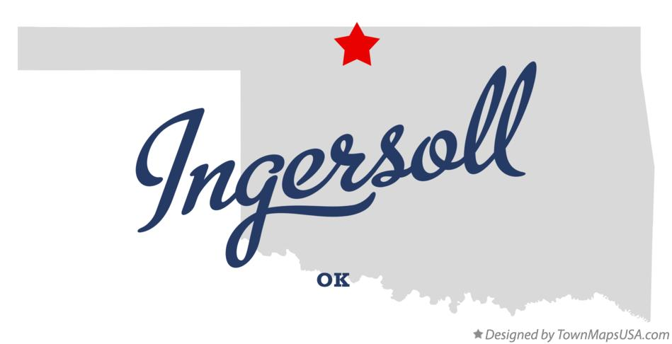 Map of Ingersoll Oklahoma OK