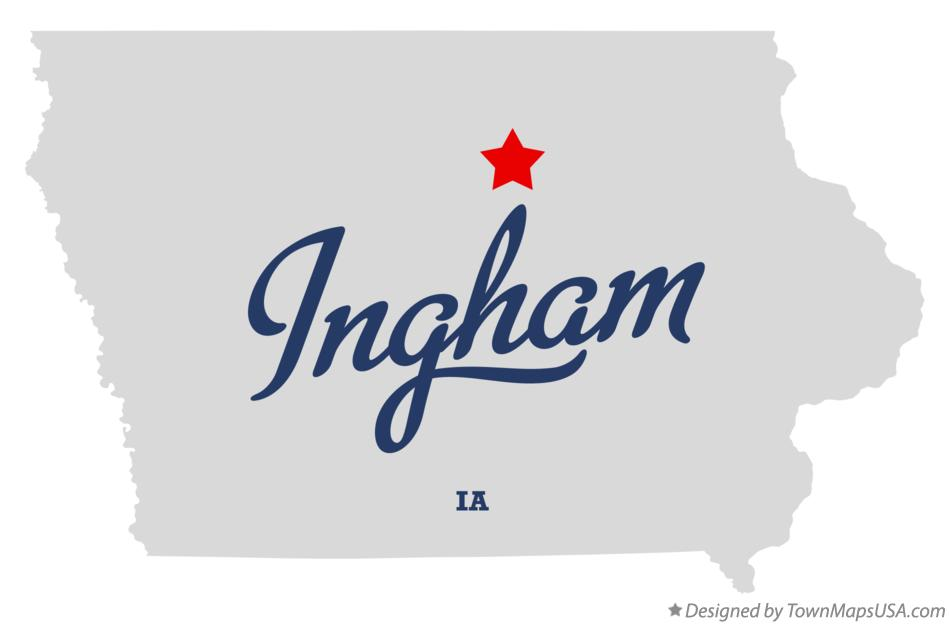 Map of Ingham Iowa IA