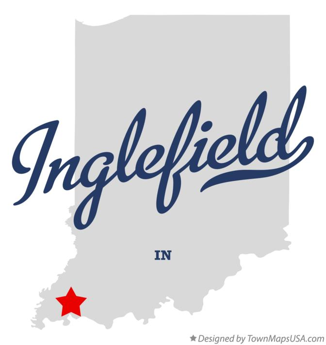 Map of Inglefield Indiana IN