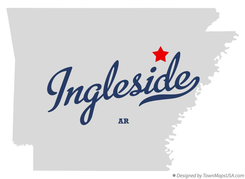 Map of Ingleside Arkansas AR