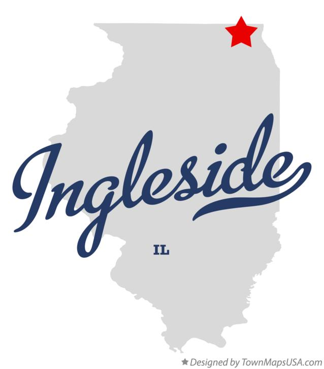 Map of Ingleside Illinois IL
