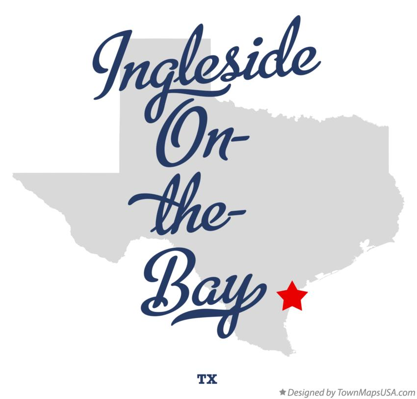 Map of Ingleside On-the-Bay Texas TX