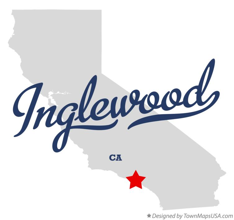 Map of Inglewood, CA, California