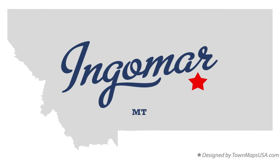 Map of Ingomar Montana MT