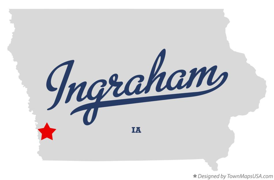 Map of Ingraham Iowa IA