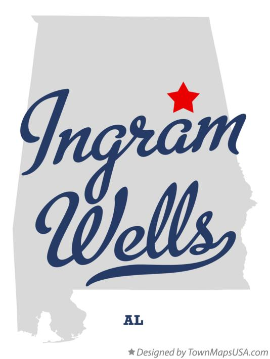 Map of Ingram Wells Alabama AL