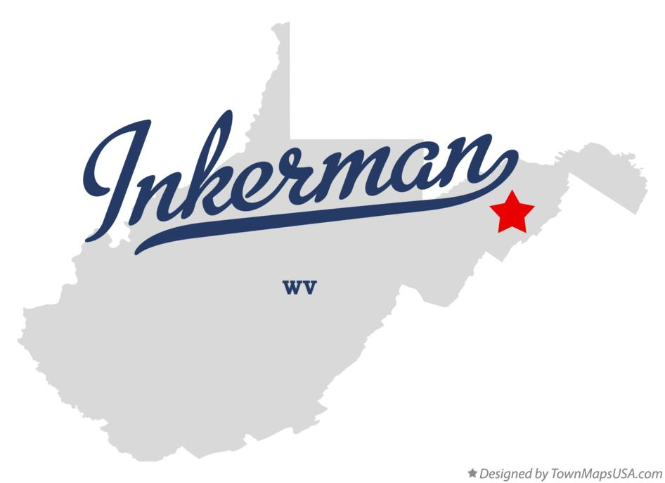 Map of Inkerman West Virginia WV