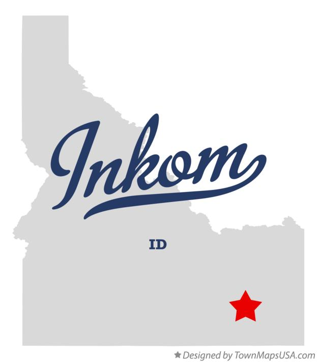 Map of Inkom Idaho ID