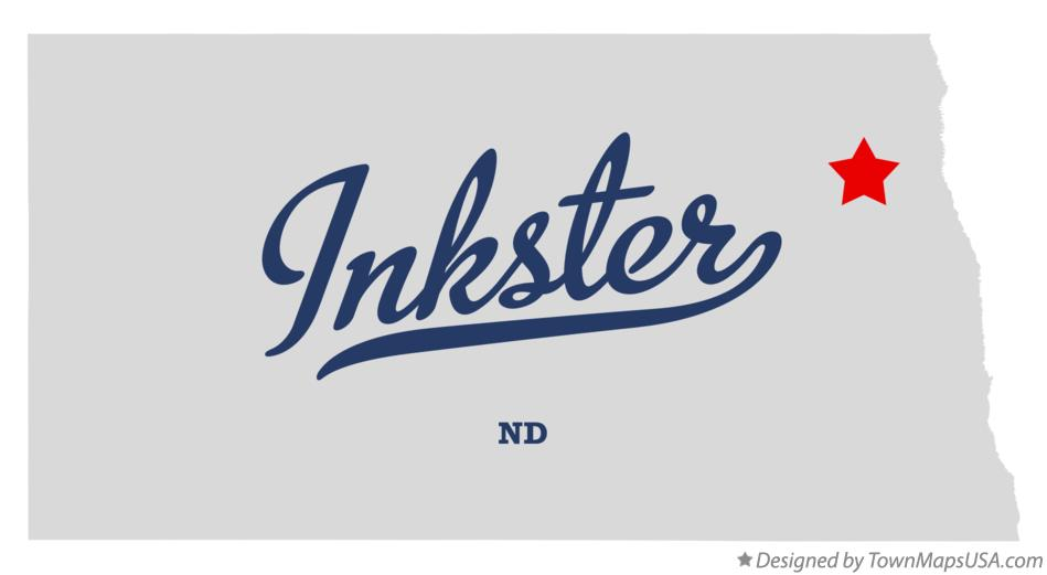 Map of Inkster North Dakota ND