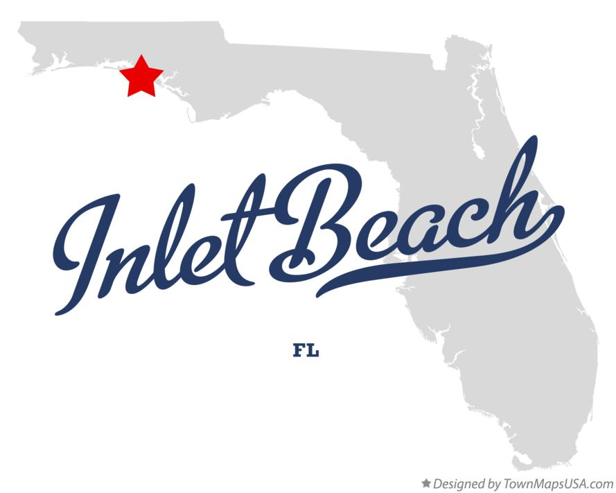 Map of Inlet Beach Florida FL