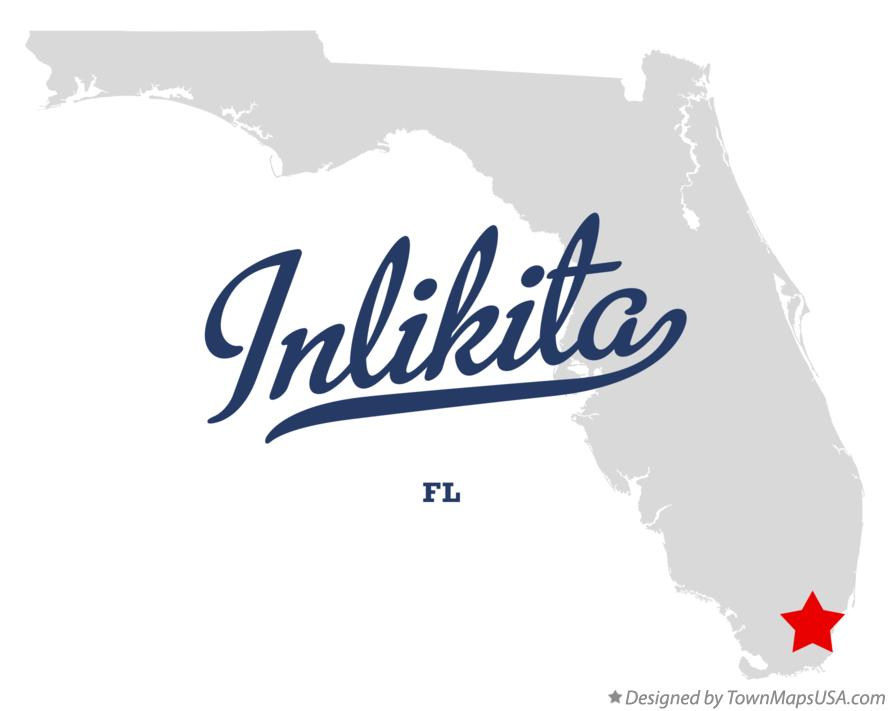 Map of Inlikita Florida FL