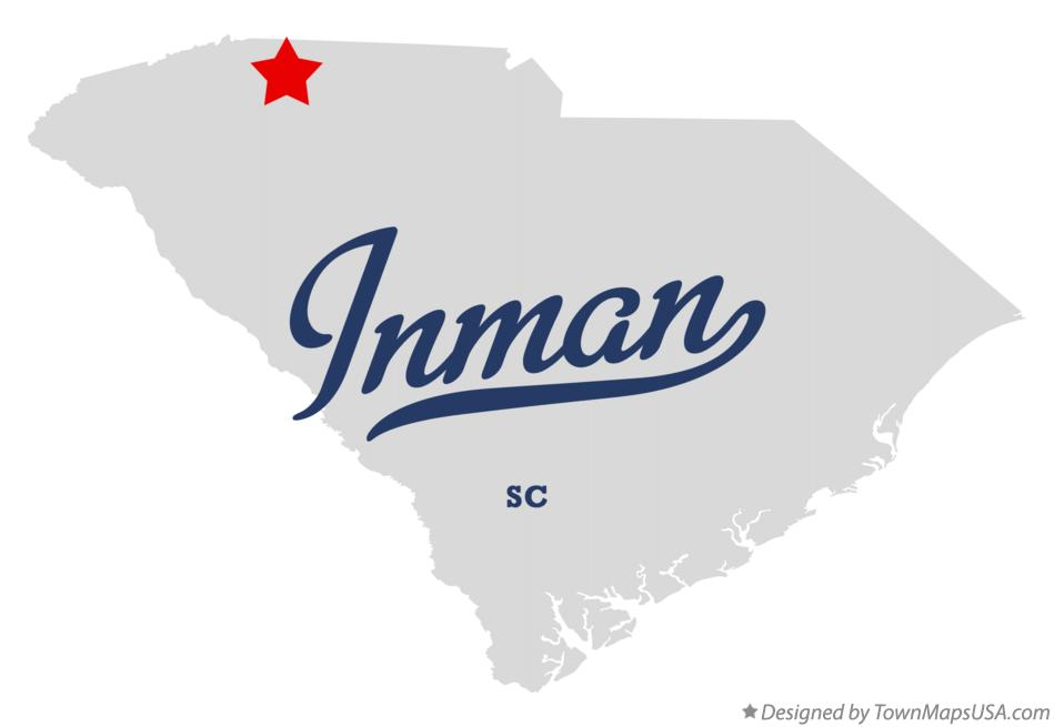 Map of Inman South Carolina SC