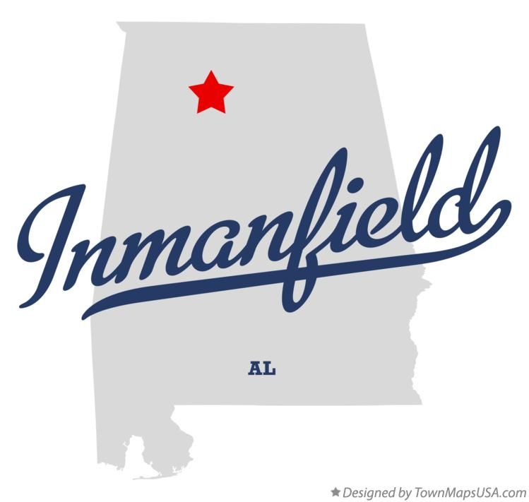 Map of Inmanfield Alabama AL