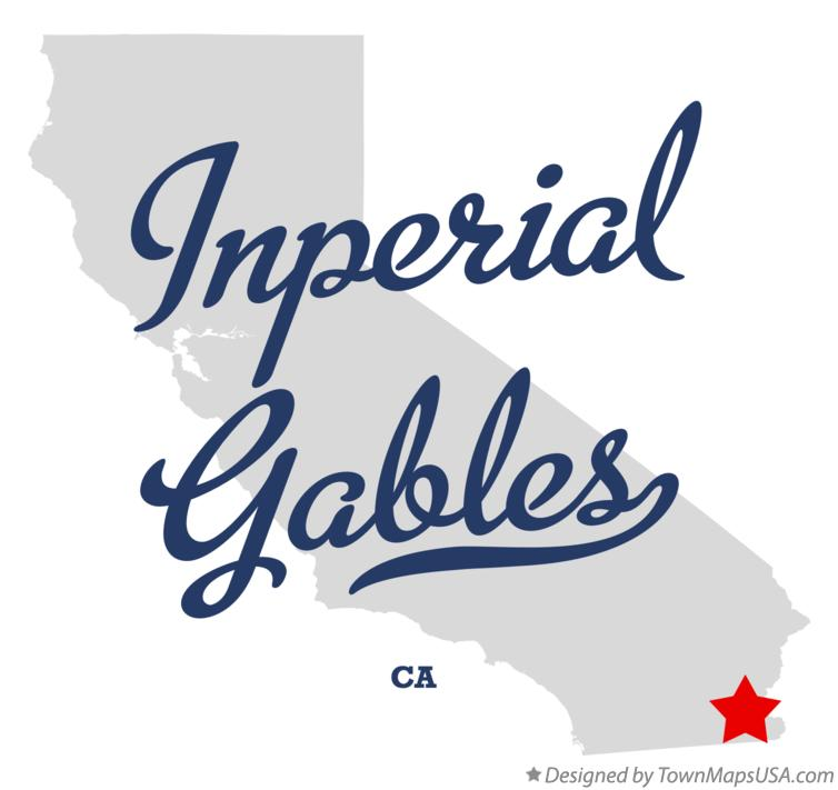Map of Inperial Gables California CA