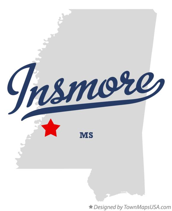 Map of Insmore Mississippi MS