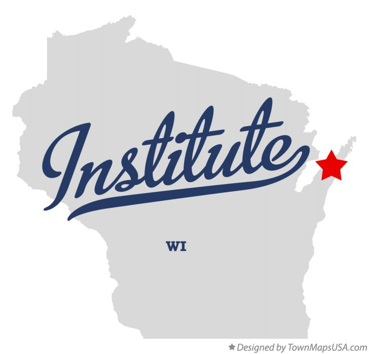 Map of Institute Wisconsin WI