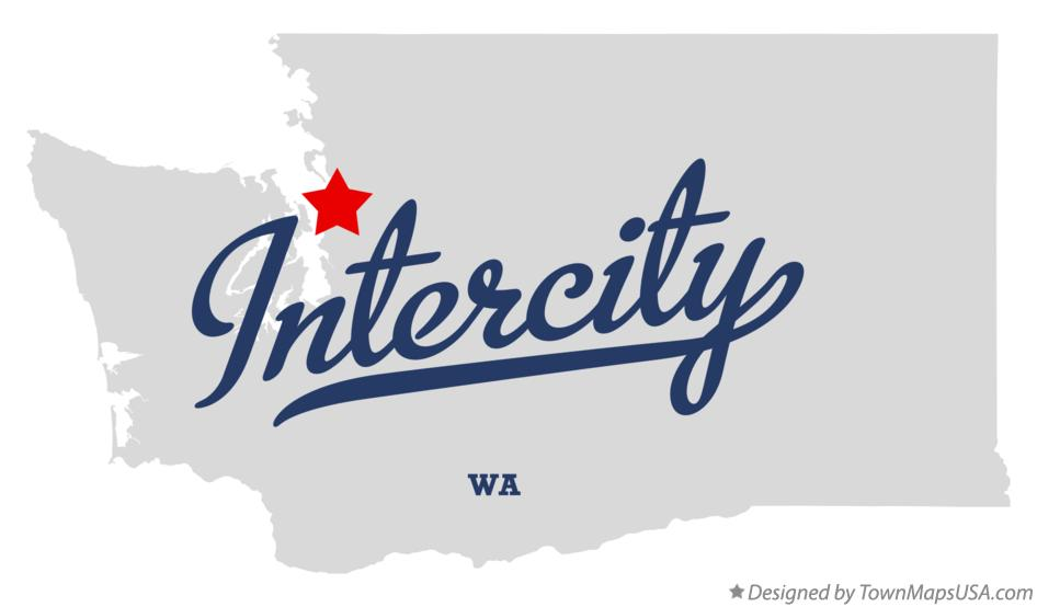 Map of Intercity Washington WA