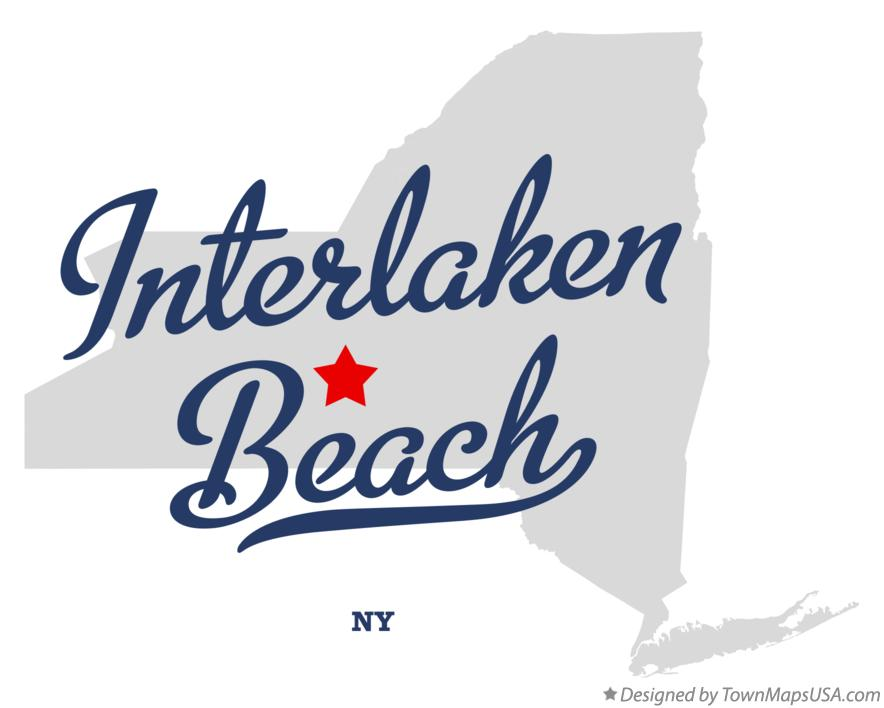 Map of Interlaken Beach New York NY