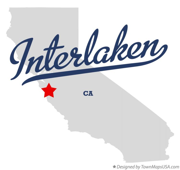 Map of Interlaken California CA