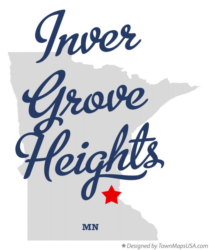 Map of Inver Grove Heights Minnesota MN